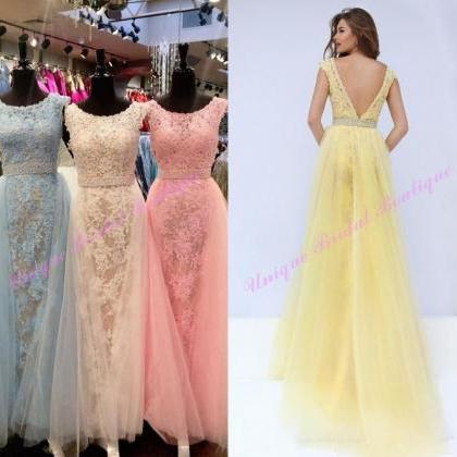 F138 Gorgeous A-line Long Prom Dres..