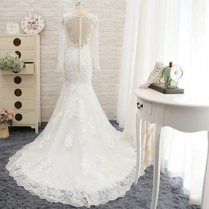 Full Lace Mermaid Wedding Dress,Lon..