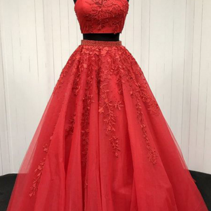 P1154 Sexy Red Two Piece Prom Dress..