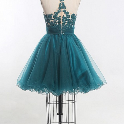 P1162 Short Homecoming Dress, Tulle..