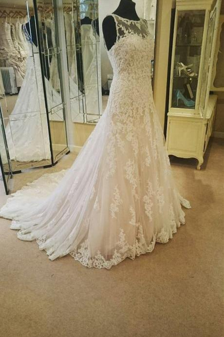 XW10 Wedding Dress, tulle LACE Bridal Dresses,Illusion Neckline Ivory Lace Backless Wedding Gowns Princess Wedding Dress For Bride,Lace Mermaid Wedding Dress,Lace Mermaid Bridal Dress,Sexy Lace Wedding Gown