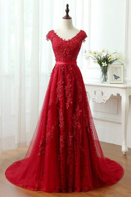 Red Lace Prom Dresses for Women - Luulla