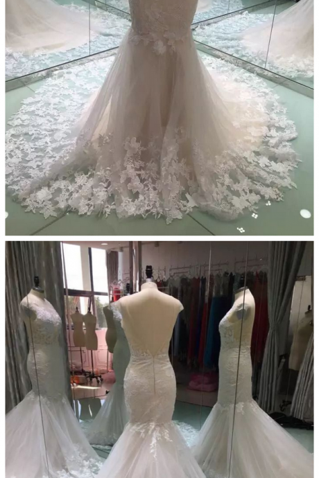 W1230 Mermaid Wedding Dresses, Wedding Dresses Turkey,Lace Mermaid Wedding Dress,Sexy Cap Sleeves Lace Mermaid Bridal Dress