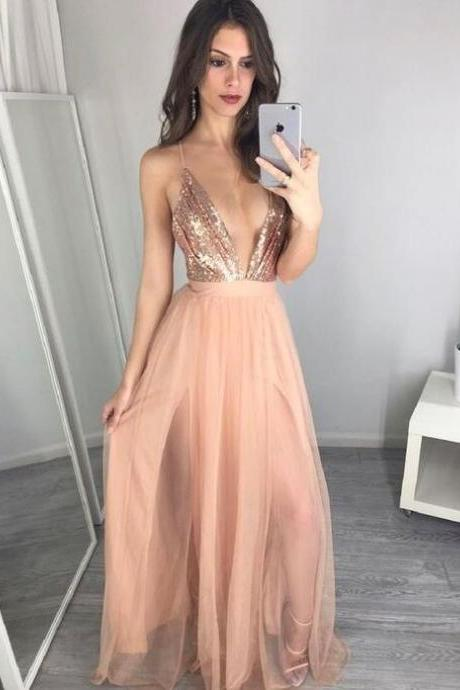 F636 Sexy Deep V-neck Prom Dresses,Simple Prom Dresses,Plus Size Prom Dresses,Charming Evening Dresses,Cheap Prom Dress,Party Dresses,Prom Dress,Evening Dress