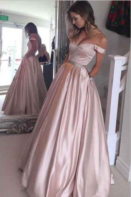 F647 High Low Pink Prom Dresses For Teens,Satin Beaded Prom Dresses,Princess Long Prom Dresses,Simple Cheap Prom Dresses,Party Dresses,Modest Evening Dresses,Prom Dress,Evening Dress