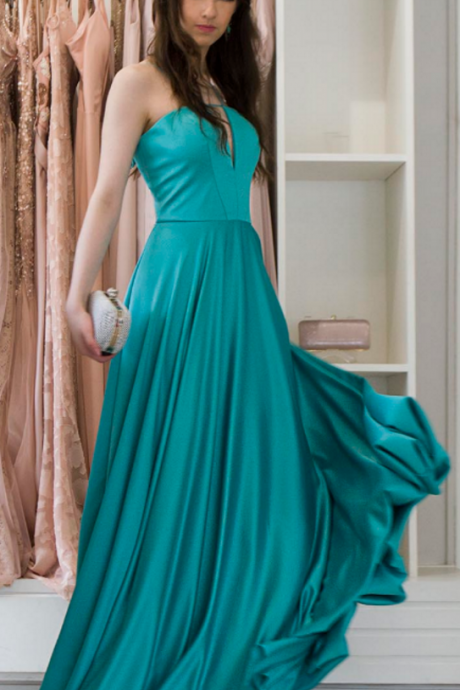 P1085 Green prom dresses party dresses evening dresses,A Line Long Chiffon Green Simple Elegant Cheap Prom Dress,Long Chiffon Sexy A Line Green Evening Dress