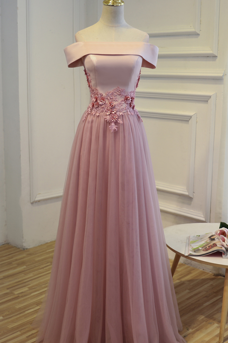F706 Charming Prom Dress,Tulle Prom Dress,Appliques Prom Dress,Off the Shoulder Prom Dress, Long Party Prom Dress, Women Formal Prom Gown Dresses,Real Photo Dress,Evening Dress,Prom Dress