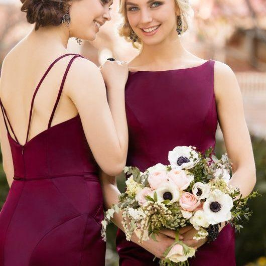 F137 Gorgeous Bridesmaid Dress, Maroon Long Bridesmaid Dress,Charming Lady Bridesmaid Dresses